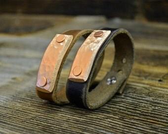 Skinny Copper Wrist Cuff by Foster Weld