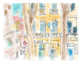 Aix en Provence, letter size print