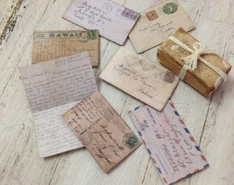 Dolls House Miniature Vintage Letters Set