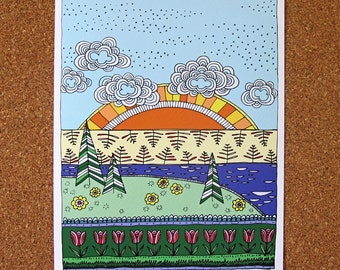 LAKESIDE giclée art print