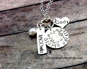 USCG necklace-semper paratus-deployment necklace-military necklace-hand stamped necklace-personalized jewelry-coast guard-coastie