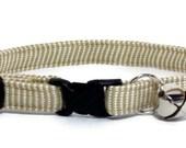 Cat Collar - Natural Stripes - Breakaway Safety Cute Fancy Cat Kitten Collar