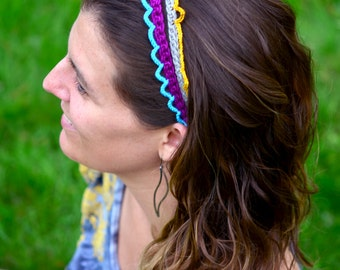 Quick Fancy Headbands - crochet pattern pdf diy handmade