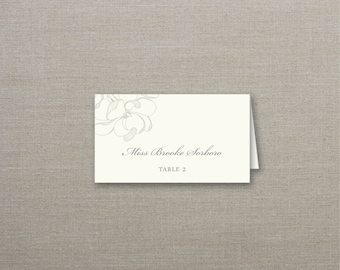 Magnolia Tented Wedding Place Cards Deposit to Get Started