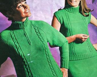 Knitting Patterns Sweater Knitting Patterns and Skirt Knitting Pattern Spinrite 112 Women Vintage Paper Original NOT a PDF