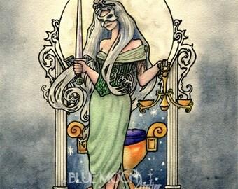 Justice - Tarot art signed print - Mary Layton