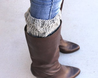 Thick Knit Boot Cuffs, Knit Boot Socks, Boot Toppers, Women's Boot Socks, Gifts for Her, Knit Leg Warmers, Womens Accessories, Knitted Cuffs