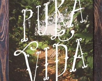 SAVE 15% Pura Vida Art Print Costa Rica Inspired Jungle art