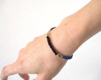 Cotton Bracelet - Cobalt Blue