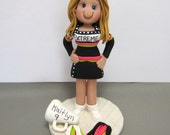 Cheerleader Personalized Cake Topper Figurine Custom Made To Order