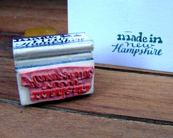 Made in New Hampshire Stamp , Modern Calligraphy, Rubber Stamp, Card Making, Your State, Packaging Labels