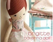 Cloth Ballerina Doll Sewing Pattern PDF Instant Download Tutu and Tulle Skirt patterns included