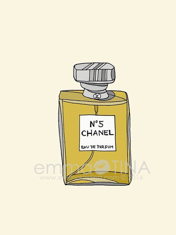 chanel n 5 perfume fashion illustration art poster. Black Bedroom Furniture Sets. Home Design Ideas