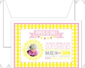 40 You Are My Sunshine Birthday Invites with Photo