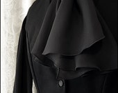 Black Georgette Ascot by Kambriel - brand new & ready to ship!