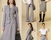 Classic Style suit pattern jacket top dress skirt pants Wardrobe for Fall Autumn sewing pattern Vogue 8679 Sz 14 to 20 UNCUT