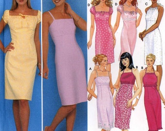 Bridesmaid dress pattern or summer cocktail dress sewing pattern Design your own Simplicity 9557 Size 12 to 18 UNCUT