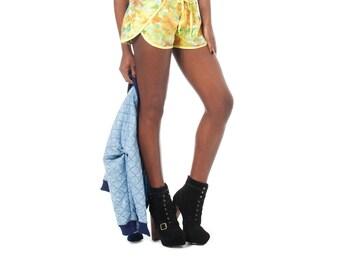 Yellow Shorts, Track Shorts, Boho Shorts, Running Shorts, Norwegian Wood, Drawstring Shorts, Crossover Shorts, Gathered Shorts, Colorful