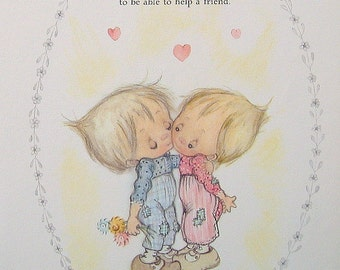 """Betsey Clark Precious Moments - """"No One is Too Small"""" - 1972 Vintage Book Page"""