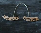 Twin Peaks Fire Walk with Me Brooch Set w/ Chain