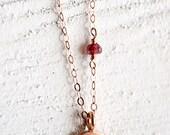 Rose gold disc necklace Om, rose gold yoga necklace, rose gold jewelry, pink gold necklace, pink gold jewelry, yoga jewelry  Naniloa Pink v2