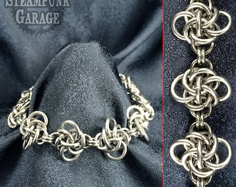 Persephone Knot Bracelet - Stainless Steel Chainmaille