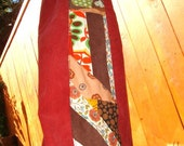 Corduroy Pants Womens Patchwork Side Panel Rust Patch Cords Vintage Red Hippy Retro Applique J Crew Size 8 by dress designer elyse oRiGiNaLs