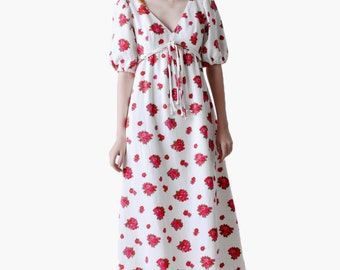 SALE - Vintage Mollie Parnis Floral Maxi Dress