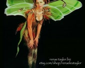 Custom Faerie / Butterfly Wings  (Extra Large LUNAR MOTH) By Renae Taylor