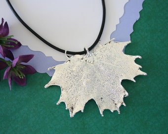 Silver Maple Leaf, Real Leaf, Sugar Maple, Maple Leaf, Sterling SIlver, PL8