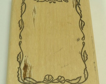 Floral Frame Wood Mounted Rubber Stamp By Stamp Affair
