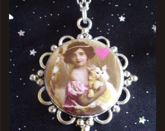I *Heart* My Cat Pendant on Silver Plated Chain