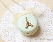 Macaron Eiffel Tower Necklace - Macaron Jewelry - Macaron Necklace