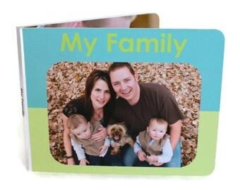 My Family Board Book - Custom Board Book, Custom Family Album, Custom Baby Book, Personalized Book, My Custom Story, Custom Chunky Book
