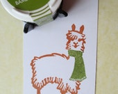 Alpaca or Llama - Hand Carved Rubber Stamp