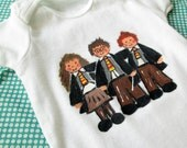 Harry Potter Shirt - Painted Baby Bodysuit - Baby Outfit - Hermione - Ron Weasley - Your Choice of Size