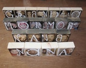 Personalized PHOTO LETTER BLOCKS- Special Flat Rate Box 2-  up to 36 blocks