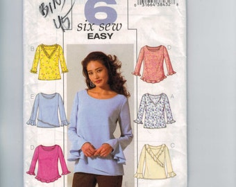 Misses Sewing Pattern Butterick B4232 Misses Easy Shirt Top Size 18 20 22 Bust 40 4244 UNCUT