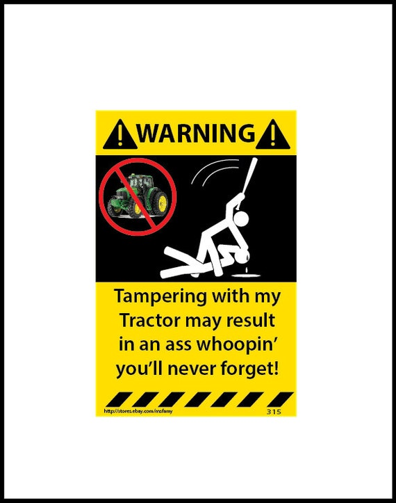 Tractor Pto Warning Decals : Items similar to warning sticker tractor assorted pack