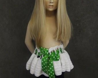 Clothing,Children,Girls,Toddlers,White, Cotton, Crochet Skirt,Tutu,