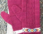 PDF - Indian Feather Mitts & Cuffs Pattern