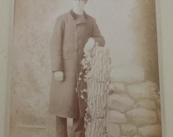 Antique Cabinet Card Gentleman in Bowler Hat CC521