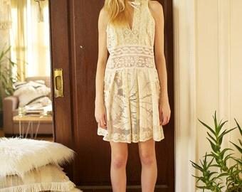sale was 275 --  AsA Shadowplay Antique Lace Dress M/L