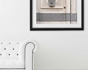 "SALE! Paris Print, ""Gray Door"" Extra Large Wall Art, Paris Photography Art Print, Oversized Art, Fine Art Photography Paris Decor"