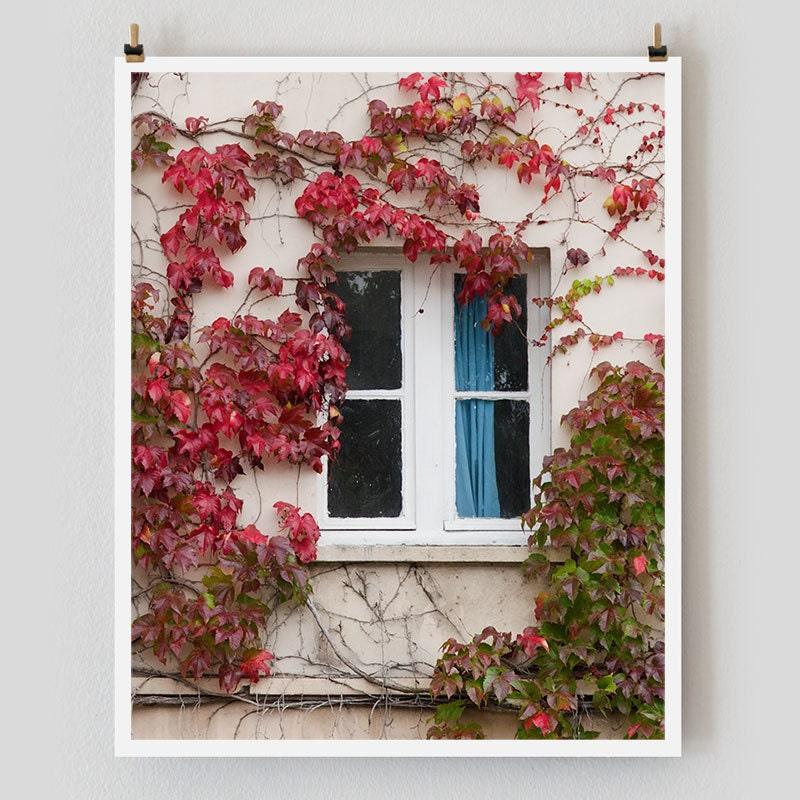 "Paris Photography, ""Blue Curtain"" Paris Print Extra Large Wall Art Prints, Paris Wall Decor"