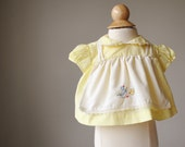 1960s Baby Bird Blouse~Newborn Size