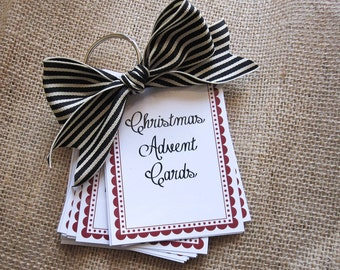 Christmas Advent Countdown Cards - PDF/JPEG PRINTABLES