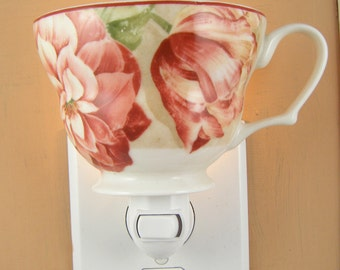 LargeTea Cup by 222 Fifth China Rose Floral Pattern Custom Night Light