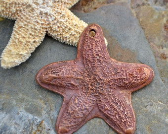 Handmade Copper Large Starfish Pendant