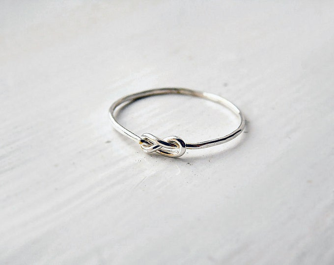 Thin Infinity Knot Ring Sterling Silver
